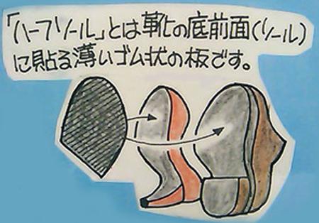 婦人靴 カカトの修理 ハーフソール8.jpg